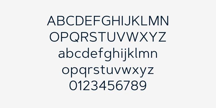 Artegra Sans – basic Latin characters.