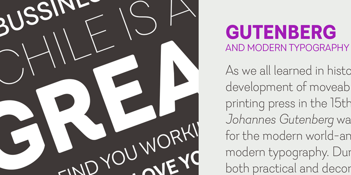 Javiera font family comes in twelve styles.