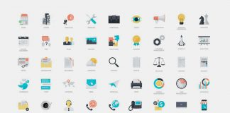 270 flat icons from Pure Solution.