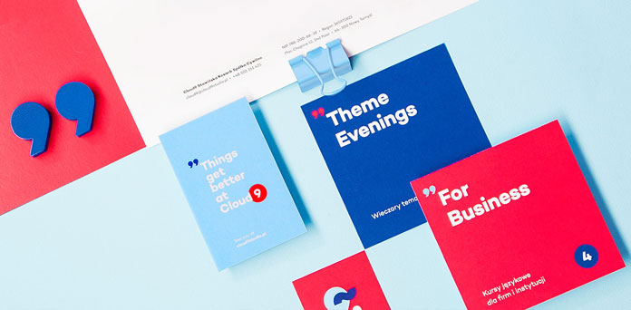 Clear communication design using refined graphic elements and a selected color range.