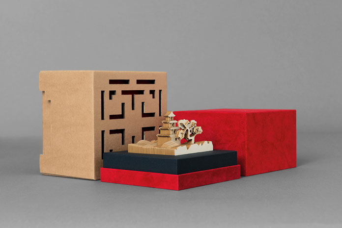 A uniquely cut diorama, made solely out of paper.