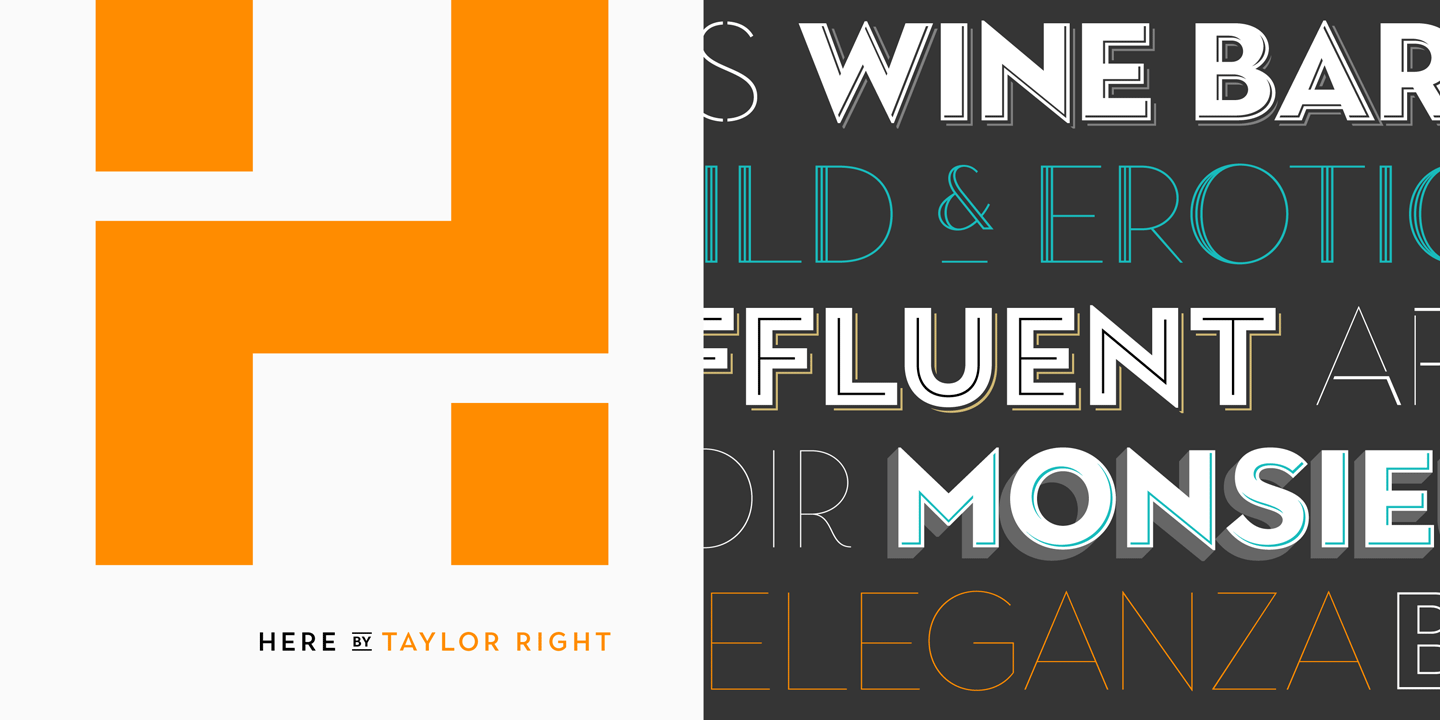 Versatile display typefaces.