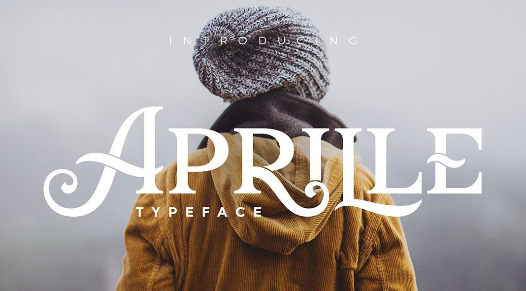 Aprille typeface by Victor Barac.