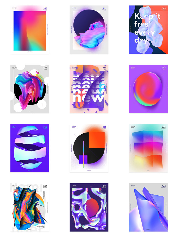 Baugasm poster designs by Vasjen Katro.