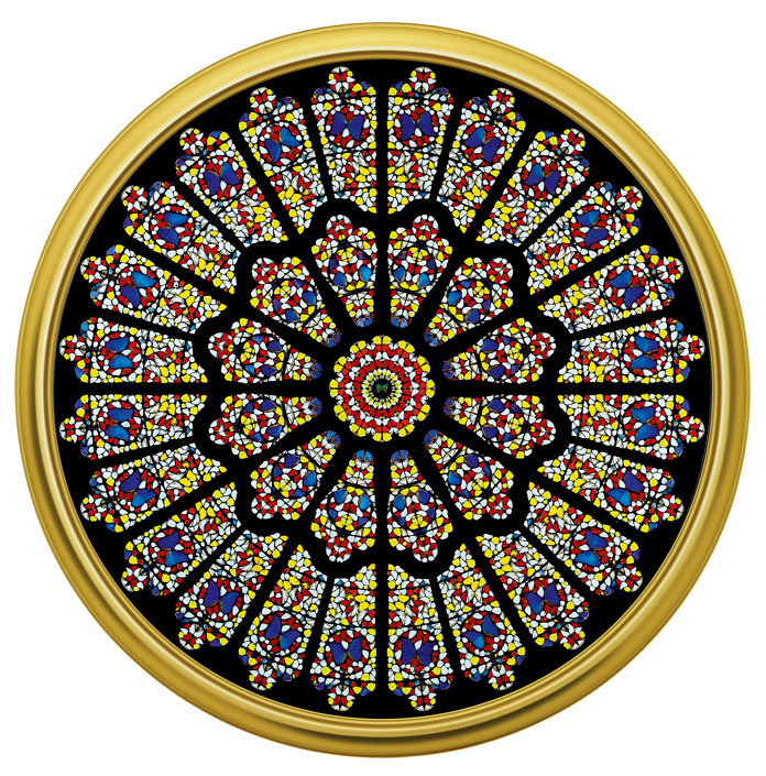 Damien Hirst, The Rose Window, Durham Cathedral, 2008