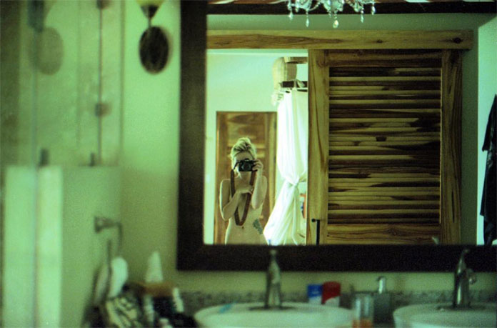 Edie Sunday, Mirror self portrait.
