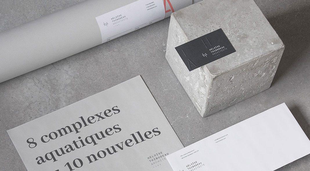 Héloïse Thibodeau Architecte – brand and web design by Louis Paquet.
