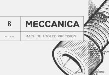 Meccanica font family by Paulo Goode.