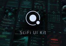 Orbit SciFi UI Kit for Adobe Photoshop.