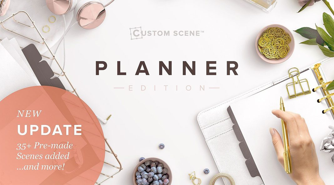 Planner edition – create fancy desktop scenes in Adobe Photoshop.