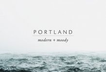 Portland, modern moody Photoshop actions.