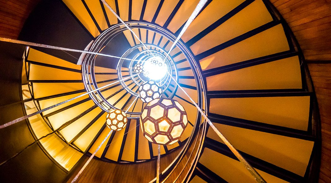 Spiral staircases photographed by Nancy Da Campo in Barcelona.