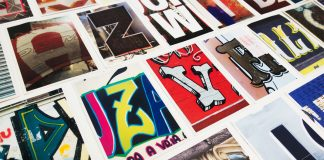 Typographic postcards that compare New York City and São Paulo.