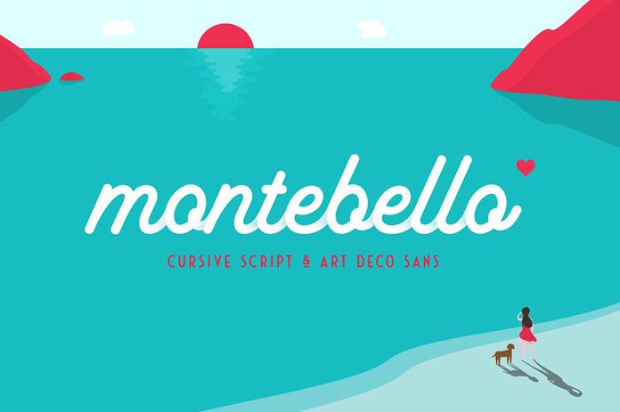 Montebello font collection by Ian Barnard.