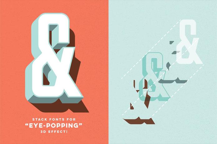 Parts & Labor-layered font by Joe Andrus.