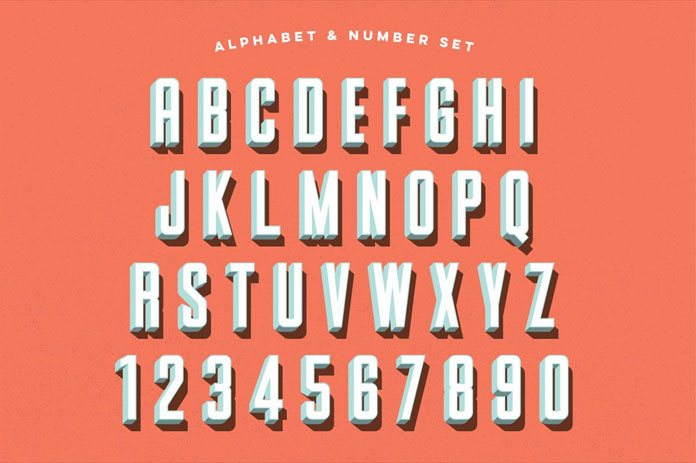 Parts and Labor: alphabet and numbers.