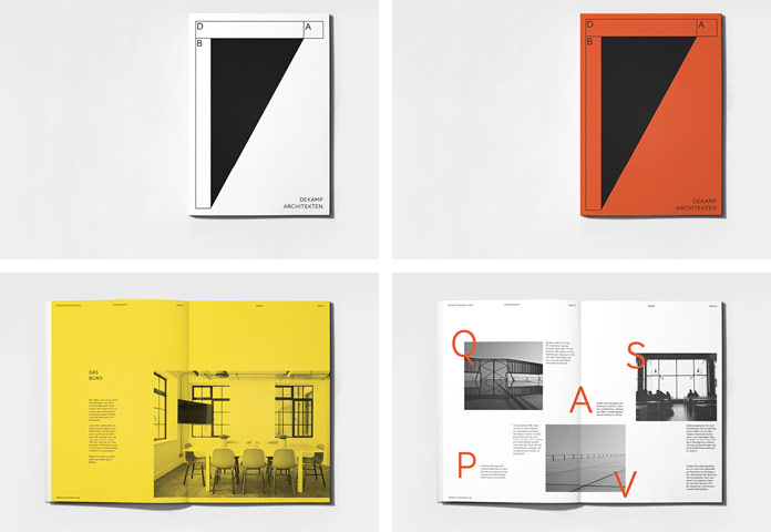 Graphic solution that refers to architectural design.