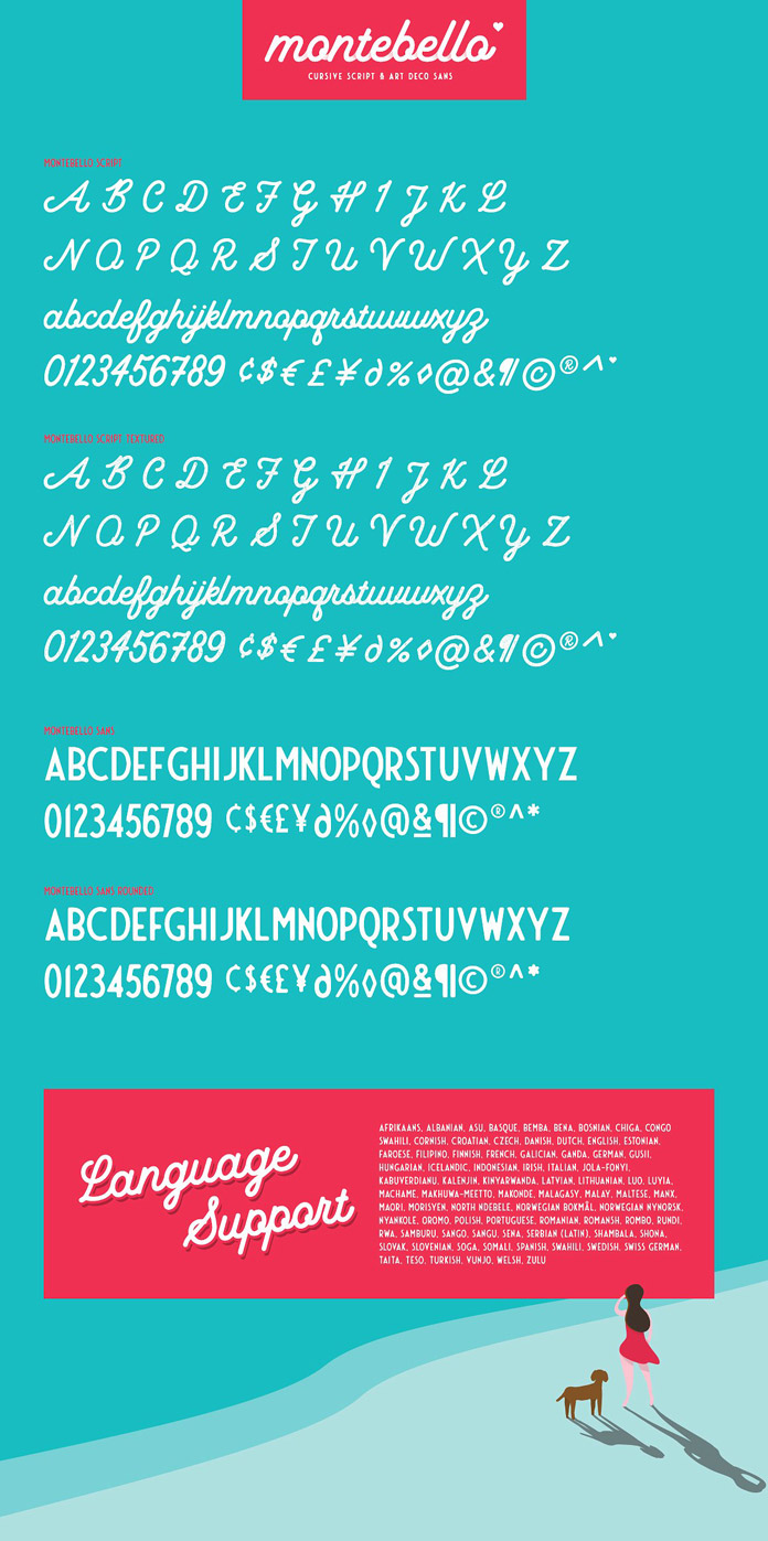 Montebello font collection - characters.