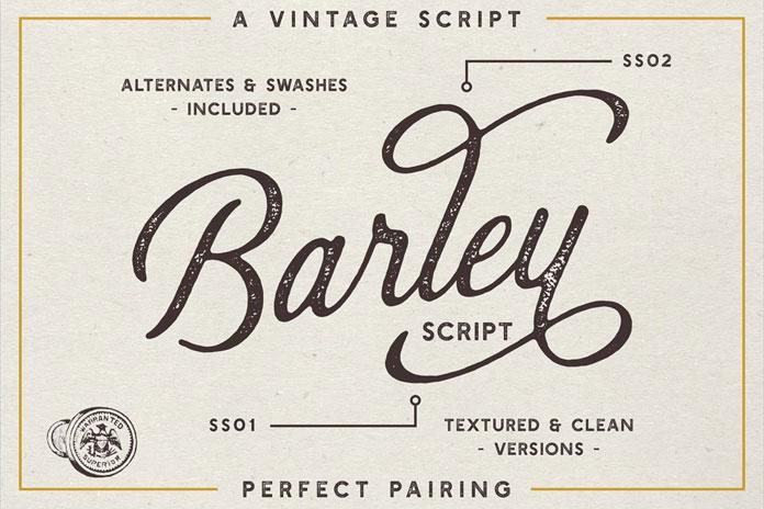 Barley Script font.