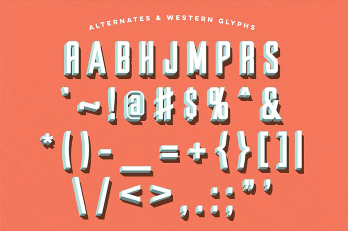 Parts and Labor: alternates and western glyphs.