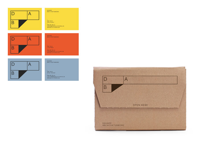 Business cards and packaging.