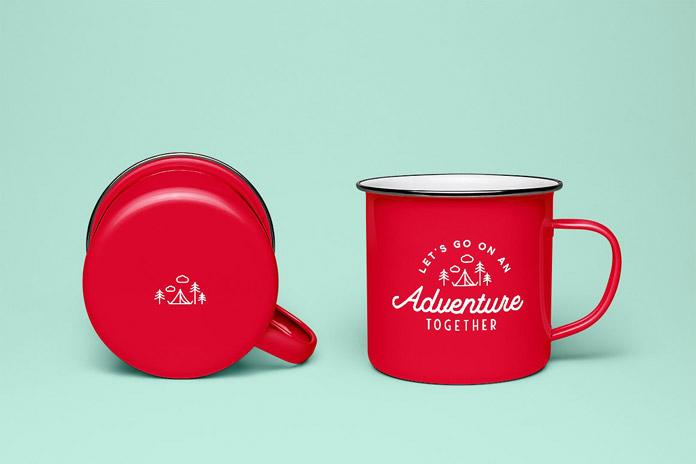 Printed mugs.