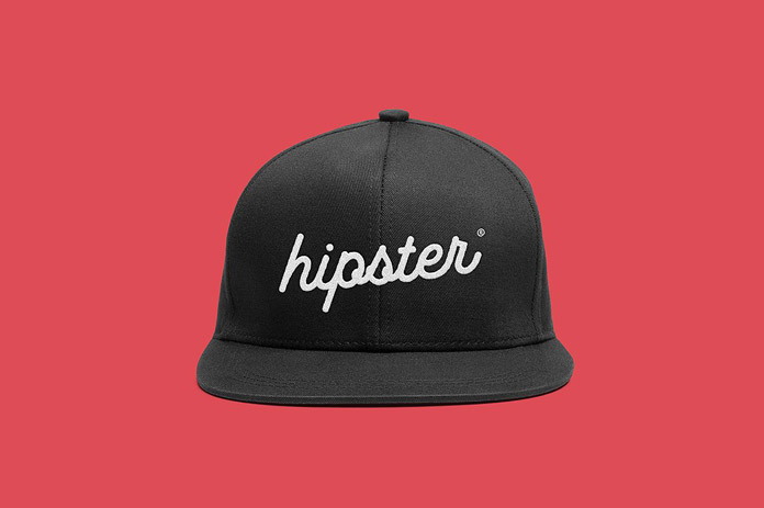 Cap hipster front print.