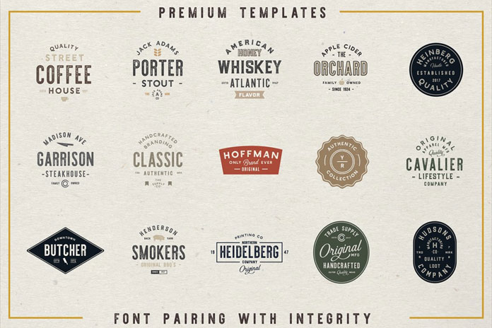 16 Vintage logo templates.