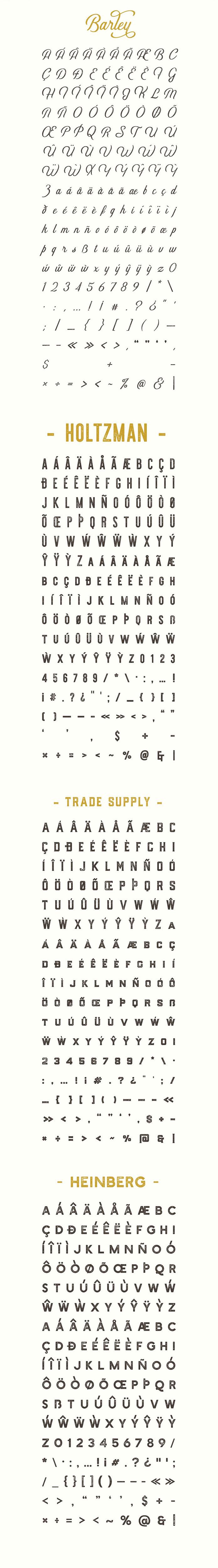 Full glyph set.