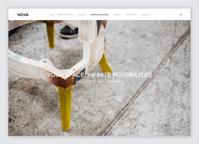 Website homepage.