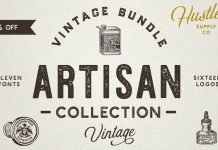 Artisan collection - retro fonts and logos by Hustle Supply Co.
