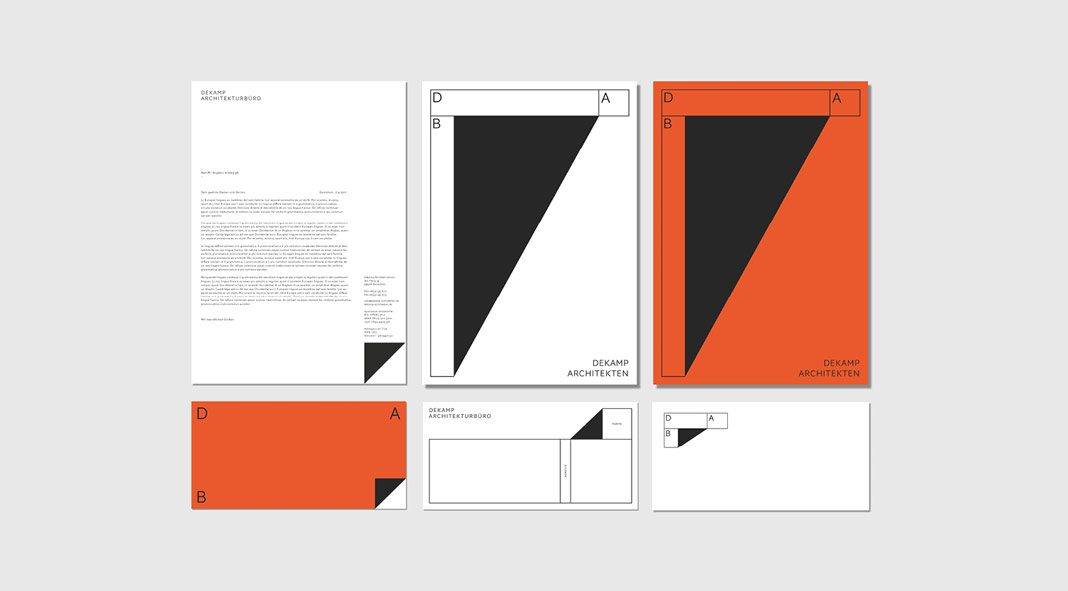 Corporate design by Bureau Mitte for architecture office Dekamp.