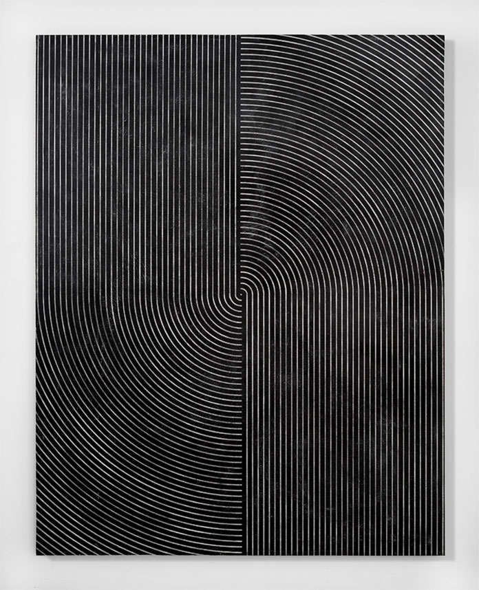 Davide Balliano, 2015, plaster, gesso and lacquer on wood, 182.8 x 142.2 cm