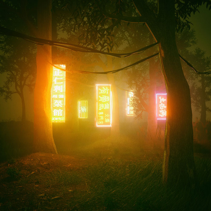 Everydays by beeple (mike winkelmann), neon signs