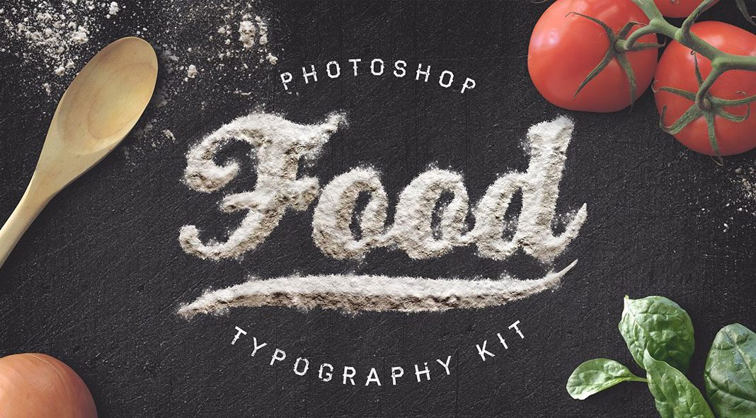 Food Typography Kit.