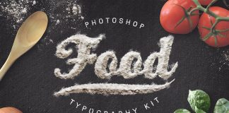 Food Typography Kit.