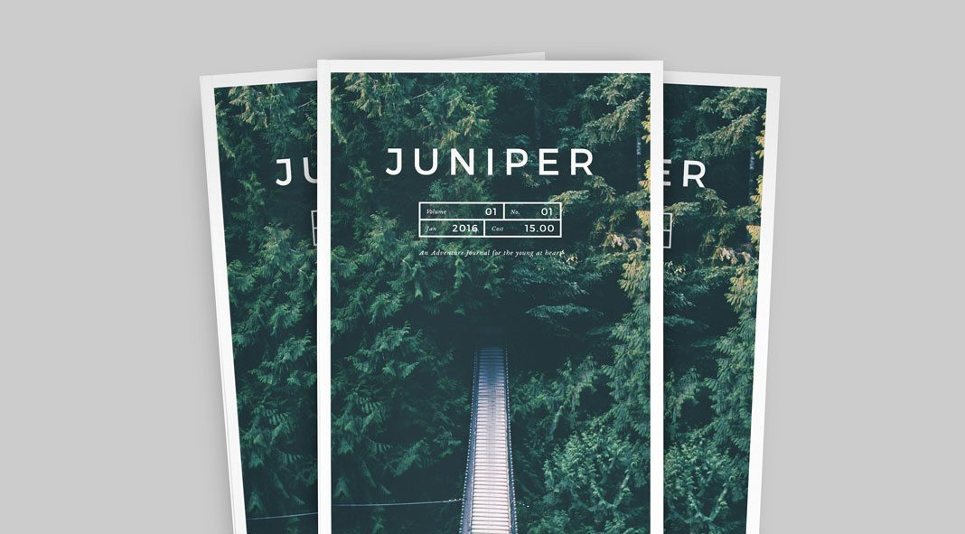 Juniper magazine and portfolio template for Adobe InDesign.