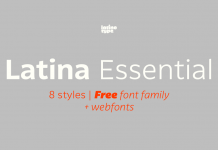 Latina Essential, a free font family from Latinotype 1.