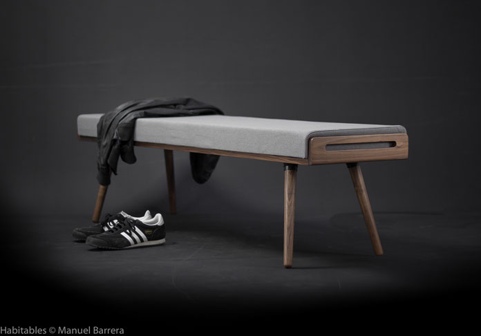 Manuel Barrera aka Habitables, Walnut Bench