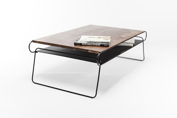 Manuel Barrera aka Habitables, Walnut coffee table