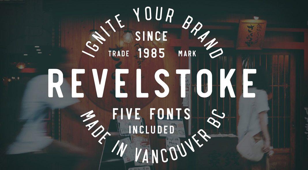 Revelstoke font family by Greg Nicholls.