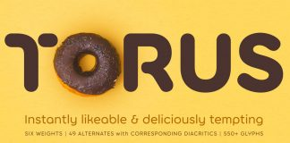 Torus font family by Paulo Goode.