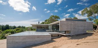 VP House in Costa Esmeralda, Argentina by architect Luciano Kruk.