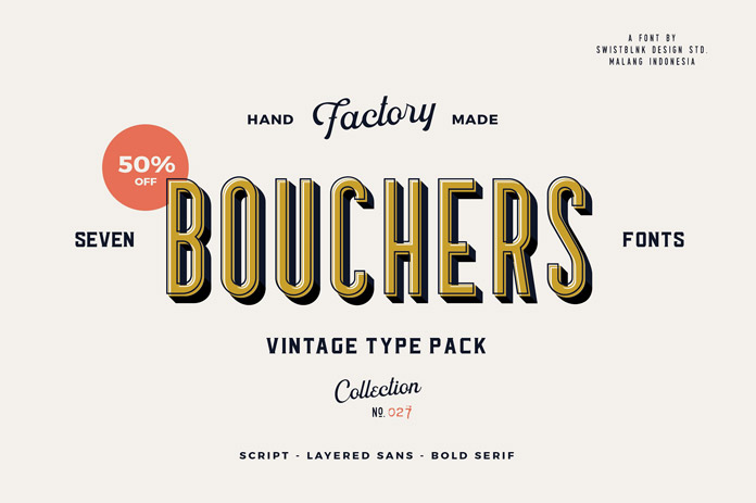 The Bouchers vintage type collection.