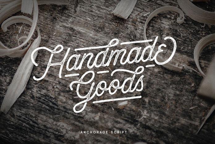 Handmade typefaces for handmade goods.