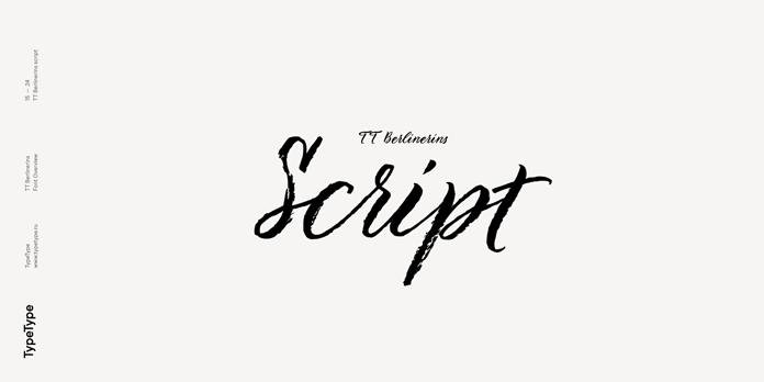 TT Berlinerins Script typeface.