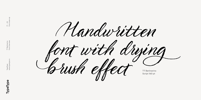 Handwritten brush font.