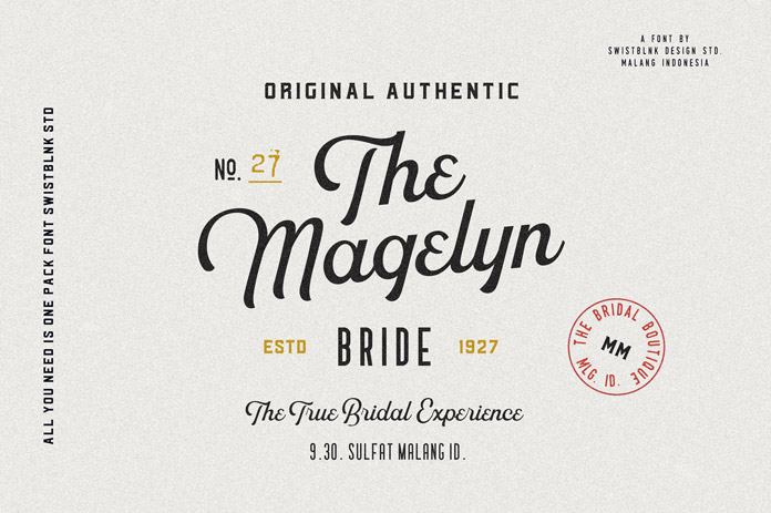 Authentic type design by Swistblnk Design Std.