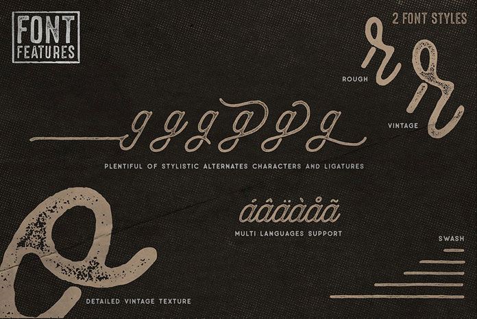 Font features.