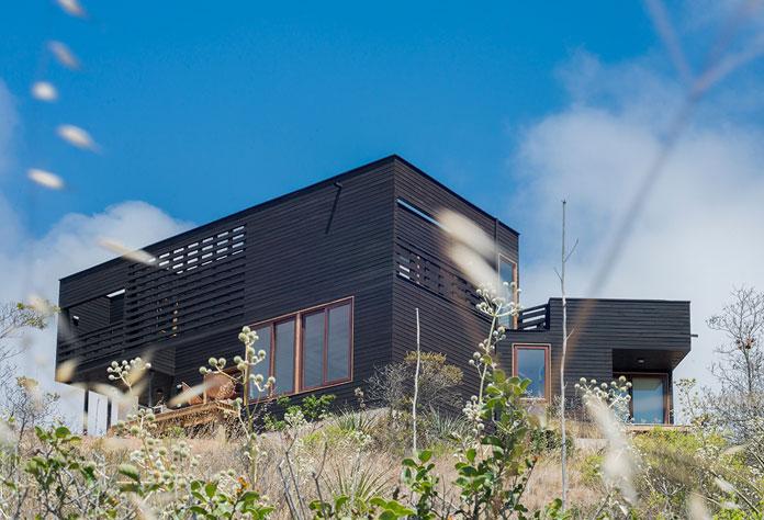 Modern black house.
